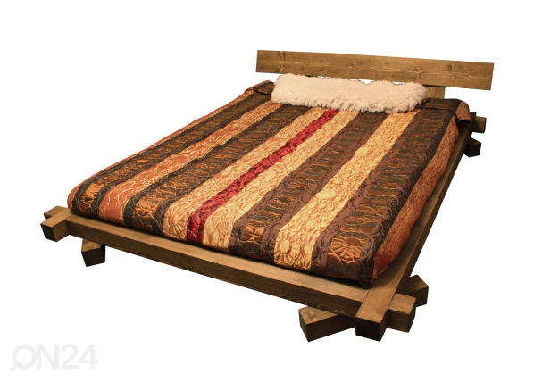 Кровать из реек 16