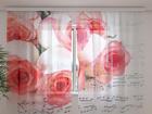 Шифоновая фотоштора Music of roses 240x220 см ED-100020