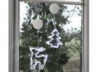 Рождественская декорация на окно Олень+ёлка AA-101098
