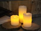 Комплект LED свечей из воска, 3 шт AA-101286
