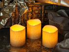 Комплект LED свечей из воска, 3 шт AA-101294