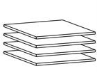 Дополнительные полки для 100 см шкафа, 4 шт AY-101869