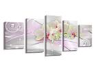 Картина из 5-частей Цветы 200x100 см ED-103755
