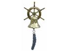 Корабельный колокол со штурвалом WR-106625