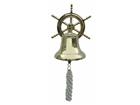 Корабельный колокол со штурвалом WR-106626