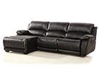 Кожаный угловой диван с механизмом подножки Chile