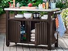 Шкаф в летнюю кухню / стол для гриля Keter Unity XL 183L TE-108739