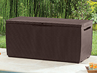 Ящик для хранения в сад Keter Capri коричневый 305 л TE-108753