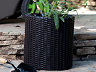 Цветочный горшок Keter Cylinder Planter Medium, anthracite Ø37 x h36 cm TE-109068