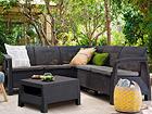 Комплект садовой мебели Keter Corfu Relax, graphite TE-109162