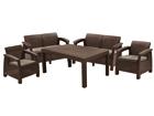 Комплект садовой мебели Keter Corfu Fiesta, коричневый