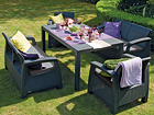Комплект садовой мебели Keter Corfu Fiesta, graphite TE-109329