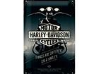 Металлический постер в ретро-стиле Harley-Davidson Things are different on a Harley 20x30 cm SG-114851