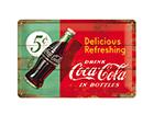 Металлический постер в ретро-стиле Coca-Cola 5c Delicious Refreshing 20x30 cm SG-114867