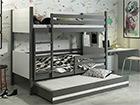 3-местная двухъярусная кровать 80x190 cm TF-116049
