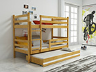 3-местная двухъярусная кровать 80x160 cm TF-116184
