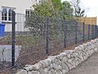 Заборная панель 2D RAL7016, 6/5/6 mm 123x250 cm PO-116448