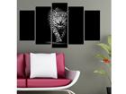 Картина из 5-частей Big Cat I, 100x60 cm ED-116631