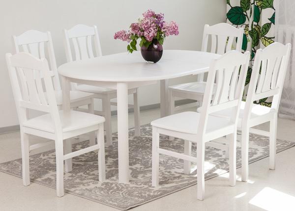 Обеденный комплект 100x100-139 cm + стулья Per 6шт EC-116853