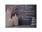 Настенная LED картина Slogan & Candles 30x40 cm ED-117168