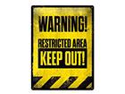 Металлический постер в ретро-стиле Restricted Area 30x40 cm SG-118294