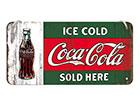 Металлический постер в ретро-стиле Coca-Cola Ice Cold Sold Here 10x20 cm SG-118346
