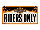 Металлический постер в ретро-стиле Harley Davidson Riders Only 10x20 cm SG-118404