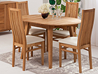 Удлиняющийся стол из дуба Basel 90-130x90 cm+ 4 стула Sandra EC-119291
