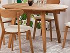 Дубовый удлиняющийся обеденный стол Basel 90x90-130 cm EC-119680
