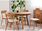 Удлиняющийся обеденный стол Basel 90-130x90 cm+ 4 стула Irma EC-119700