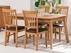 Обеденный стол Genf 140x90 cm+ 4 стула Ronny EC-119702
