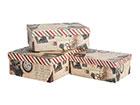 Коробки из картона Old Letter 3 шт EV-121960