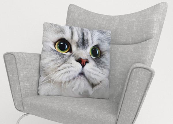 Декоративная наволочка Gray Cat