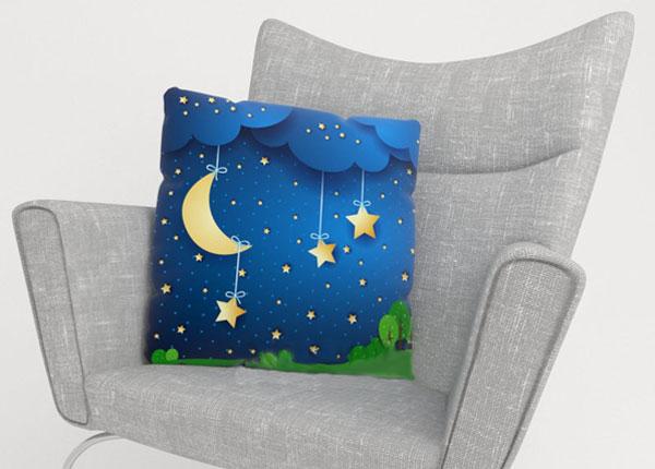 Декоративная наволочка Moon and stars