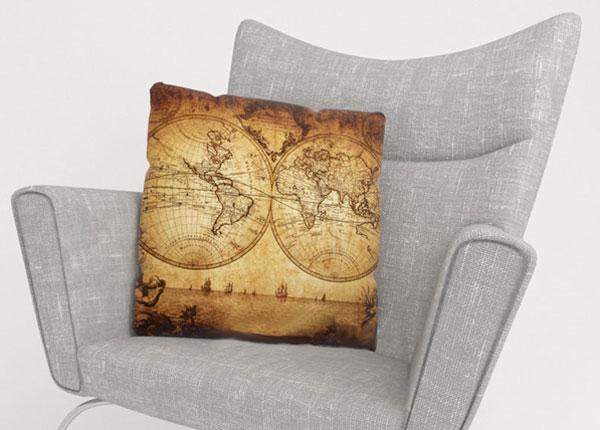 Декоративная наволочка Old Map