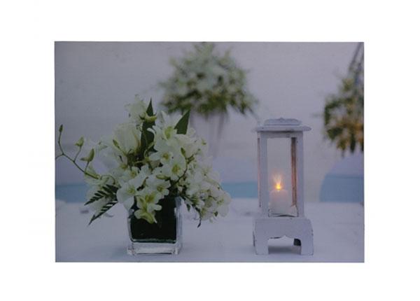 LED настенная картина Flowers & Lantern
