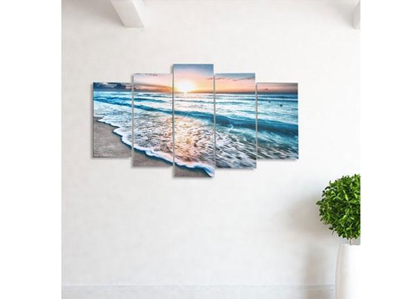 Картина из 5-частей Holiday Paradise 100x60 cm ED-124470