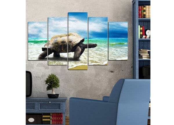 Картина из 5-частей Turtle 100x60 cm ED-124472