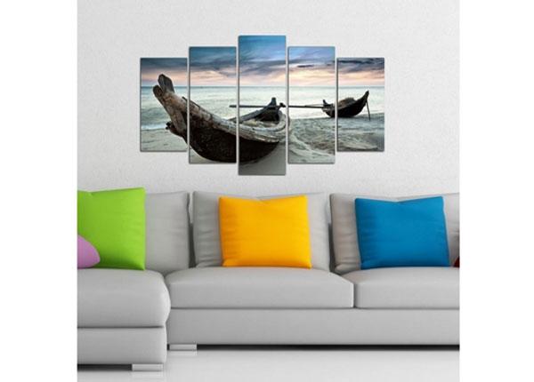 Картина из 5-частей Boat 4, 100x60 cm ED-124739