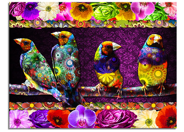 Картина Birds 113x85 cm QA-124774
