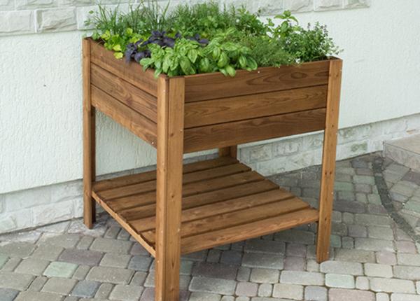 Ящик для растений на ножках 80x80 cm 4 сектора