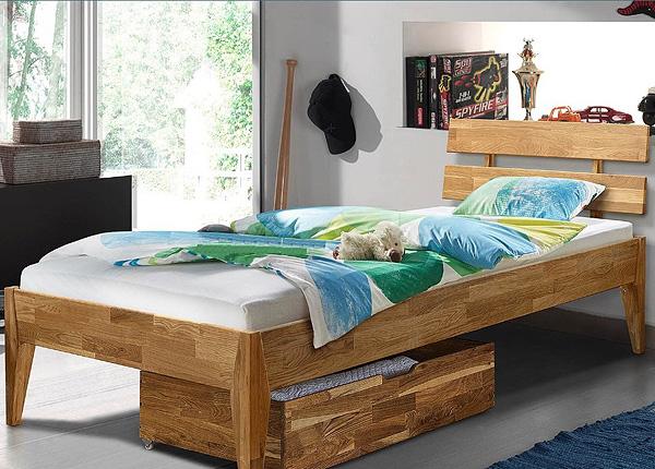 Кровать из массива дуба Elke 90x200 cm EC-125604