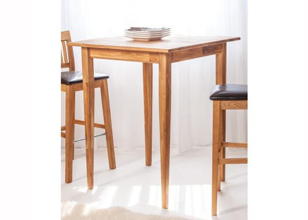 Барный стол из массива дуба 80x80 cm EC-125610