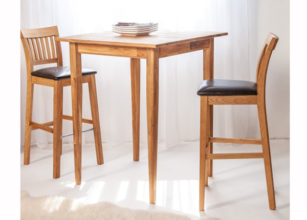 Барный стол из массива дуба + 2 барных стула EC-125611