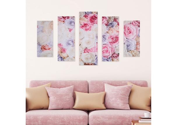 Картина из 5-частей Rose Petals 160x60 cm ED-125685