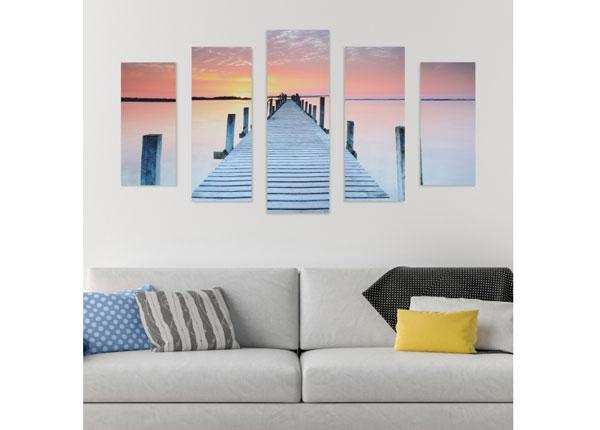 Картина из 5-частей Footbridge & Sunset 160x60 cm ED-125687