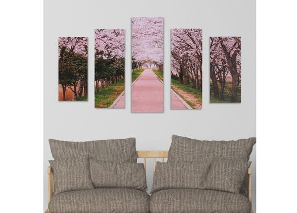 Картина из 5-частей Cherry Blossom Path 160x60 cm ED-125689