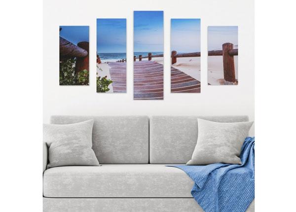 Картина из 5-частей Beach Walkway 160x60 cm ED-125692