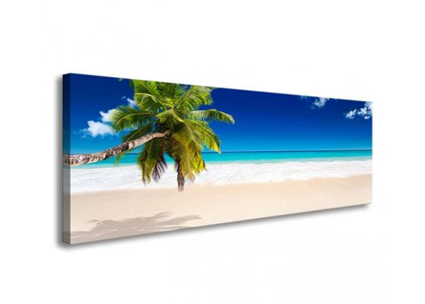 Картина Tropical beach with palm tree 120x40 cm ED-126287