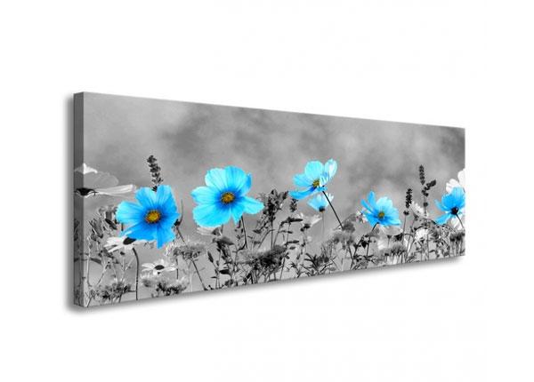 Картина Blue flowers 120x40 cm ED-126288